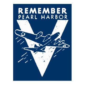 WWII White Remember Pearl Harbor Postcard