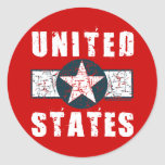 WWII wing markings Classic Round Sticker