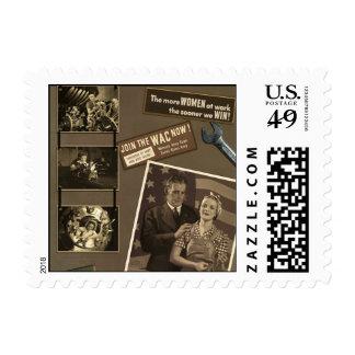 "WWII ""Women at Work"" Scrapbook Postage Stamp"