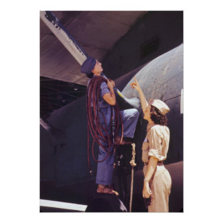 WWII Women Aviation Mechanics Poster