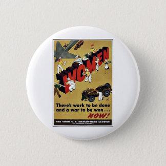 Wwii Women Button