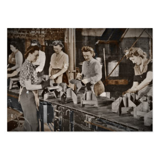 WWII Women in Assembly Line Business Card Template