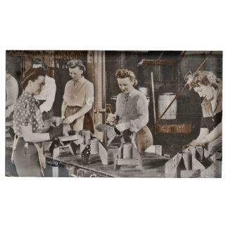 WWII Women in Assembly Line Table Card Holder