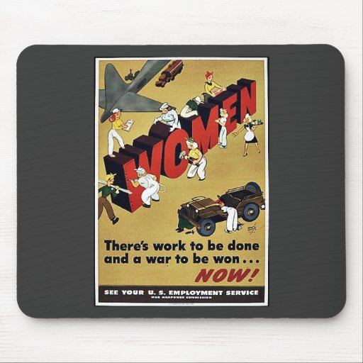 Wwii Women Mouse Pad