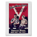 Wwii Women Poster