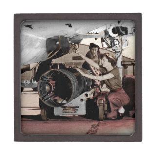 WWII Women Working on Airplane Gift Box