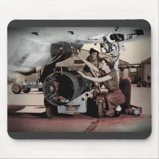 WWII Women Working on Airplane Mouse Pad