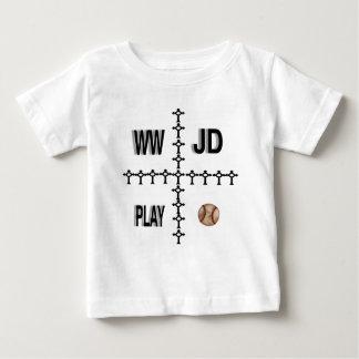 WWJD Baseball Baby T-Shirt