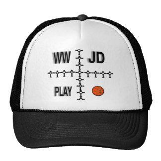 WWJD BASKETBALL TRUCKER HAT