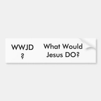 WWJD? CAR BUMPER STICKER