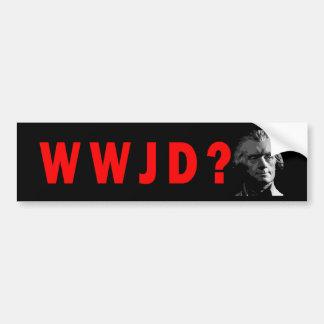 WWJD? Bumper Sticker Car Bumper Sticker
