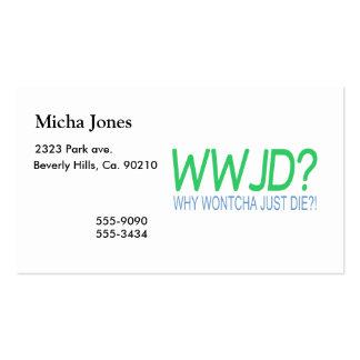 WWJD BUSINESS CARD
