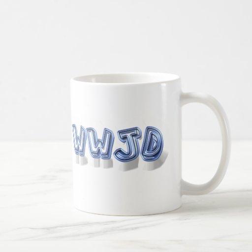 wwjd classic white coffee mug