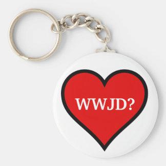 WWJD heart Keychain