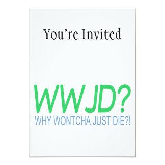WWJD 5X7 PAPER INVITATION CARD