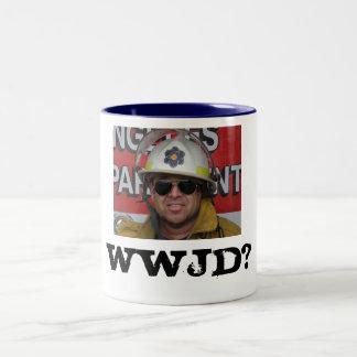 WWJD? Two-Tone COFFEE MUG