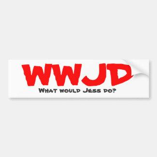 ¿WWJD, qué Jess haría? Pegatina Para Auto
