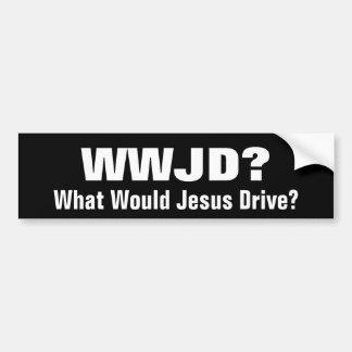 ¿WWJD?  ¿Qué Jesús conduciría? Pegatina Para Auto