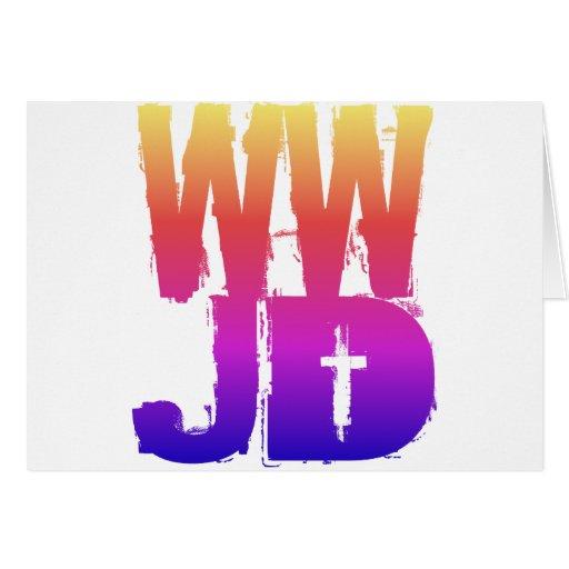 WWJD qué Jesús haría Felicitaciones