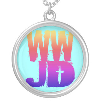 WWJD SILVER PLATED NECKLACE