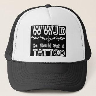 WWJD Tattoo Trucker Hat