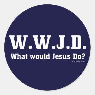 WWJD? What Would Jesus Do? Classic Round Sticker