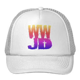WWJD What Would Jesus Do Trucker Hat
