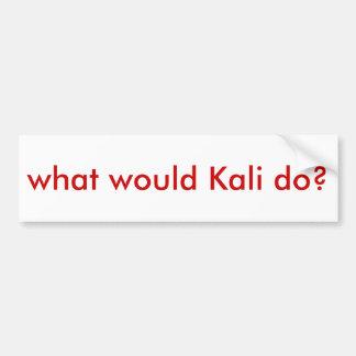 """¿WWKD? ¿""""qué Kali haría? """" Pegatina Para Auto"""