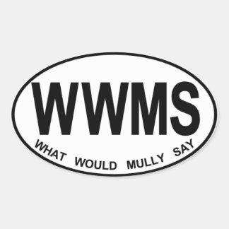 WWMS - Oval Sticker, Glossy Oval Sticker