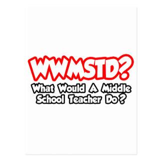 WWMSTD. ¿Qué el profesor de escuela secundaria Postal