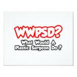 ¿WWPSD… qué un cirujano plástico haría? Invitación Personalizada