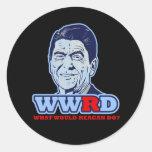 ¿WWRD, qué Reagan haría? Pegatinas Redondas