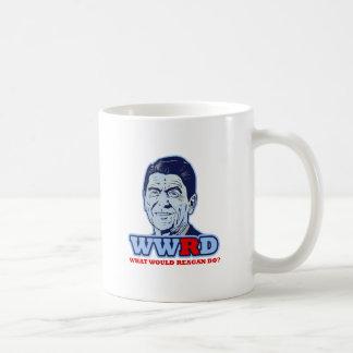 ¿WWRD, qué Reagan haría? Taza Básica Blanca