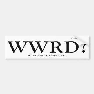WWRD - Qué Ronnie haría Pegatina De Parachoque