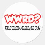 ¿WWRD… qué un radiólogo haría? Pegatina Redonda