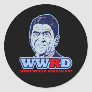 WWRD, What would Reagan Do? Classic Round Sticker