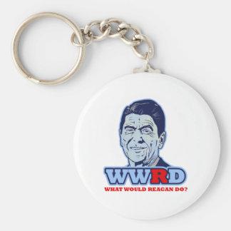 WWRD, What would Reagan Do? Keychain