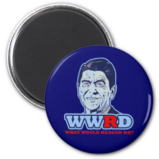 WWRD, What would Reagan Do? 2 Inch Round Magnet