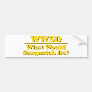 WWSD? CAR BUMPER STICKER