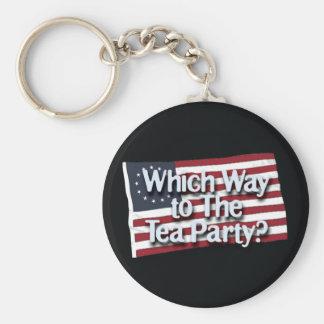 wwt_the_tea_party_btn_blk llavero redondo tipo pin