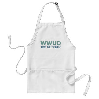 WWUD -- Think for Yourself Adult Apron