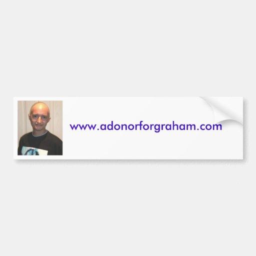 www.adonorforgraham.com pegatina para auto
