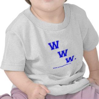 WWW azul Camiseta