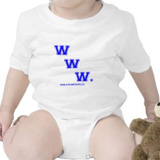 WWW azul Traje De Bebé