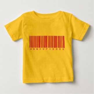 www.Cupid.org Barcode Valentine Baby T-Shirt