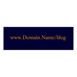 www.Domain.Name/blog Mini Business Card
