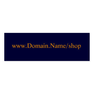 www.Domain.Name/shop Mini Business Card