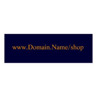 www.Domain.Name/shop Mini Business Card