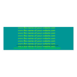 www{dot}the-name-of-your-business{dot}com Double-Sided mini business cards (Pack of 20)