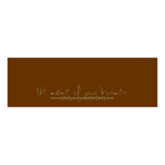 www{dot}yourbusiness{dot}com Double-Sided mini business cards (Pack of 20)